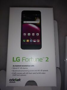 LG FORTUNE 2 CRICKET WIRELESS ONLY CELL PHONE BRAND NEW