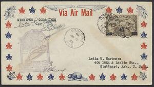 1935 Pilot Signed Flight Cover, AAMC #3505a Winnipeg to Gods Lake MAN