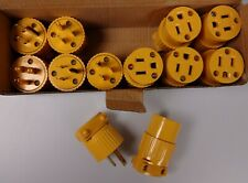 Male(6) & Female(6) Extension Cord Replacement Electrical End Plugs 15AMP/125V