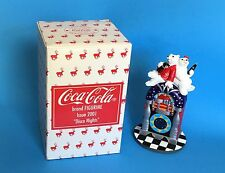 "Coca Cola Disco Nights Juke Box 6"" Figurine Boy Girl Polar Bear 2001 In Box"