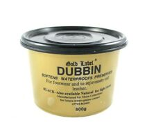 GOLD LABEL DUBBIN Black 500g Softens Waterproofs & Leather Care