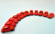 12 auto vintage FIAT 500 arancio scala N 1:160 PKW (carro SITFA non in vendita)