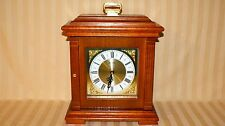 Bulova Oak Clock Mantel Dresser Shelf Jewelry Storage Behind Clock Facing