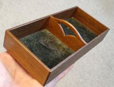 Exceptional! ANTIQUE Vintage TRAMP FOLK ART Crafts MINIATURE WOODEN TRAY Box