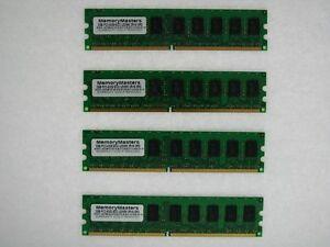 NEW! 8GB (4x2GB) Memory PC2-5300 ECC UNBUFFERED RAM Dell Poweredge T300