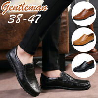 New Men Casual Leather Shoes Business Dress Slip On Moccasins Driving Boat Shoes