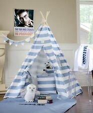 Blue Stripe Teepee With Foor Window Pocket From Canada,kids teepee tent