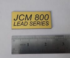 JCM 800 LEAD series Marshall plastic logo badge gold color 60 mm= 2.4'' inch