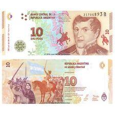 Argentina 10 Pesos 2017 P-New Series B Banknotes UNC