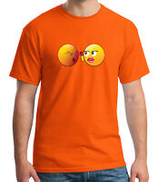 Silly Emoji Adult's T-shirt Emoji Pepper Spraying Tee for Men - 1007C