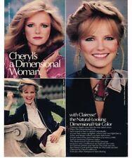 1981 Clairol Clarisse Hair Color Rinse Cheryl Tiegs Vintage Print Ad