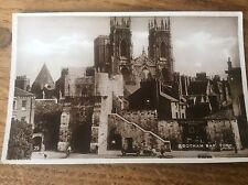 Bootham Bar York Postcard RP pc Postally Unused Excel Series Minster