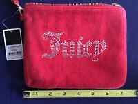 Juicy Couture Red Velour Wristlet Wallet + Rhinestones (Black Label) NWT $198