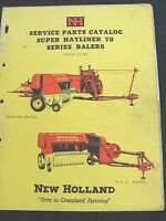 1958 1959 NEW HOLLAND SUPER 78 PTO & ENGINE DRIVEN BALER PARTS CATALOG MANUAL