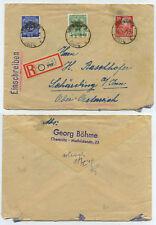 54468 - SBZ Mi.Nr. 200, 210 und 222 - R-Brief - Chemnitz 4.3.1949 nach Schärding