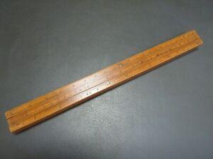 """Vintage boxwood 4 slide gaugers 12"""" rule ruler by W Grove"""