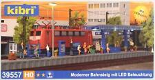 Kibri 39557 ( 9557 ) H0 - moderner Bahnsteig mit LED- Beleuchtung NEU & OvP