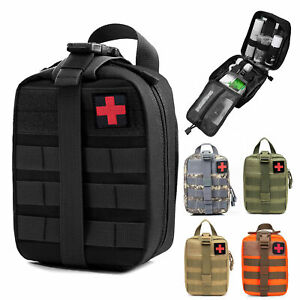 Tactical MOLLE Rip Away EMT First Emergency Aid Kit IFAK Pouch Medical Empty Bag