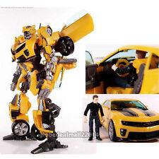 Transformers  Bumblebee Roboter Auto ACTION FIGURE und Sam mit Box Spielzeug