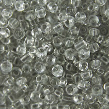 1KG Clear Transparent Round Glass Seed Beads Size 6/0 4mm