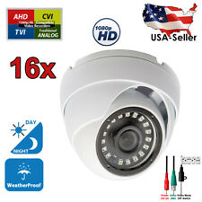 16x 1080p Day Night Vision Outdoor Cctv Security Surveillance Cameras Hd Tvi Ahd