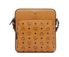 MCM Men's Automa Visetos Messenger Bag Cognac Color MMM7AOT25CO001 Authentic