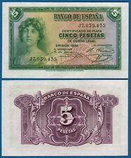 España/Spain 5 pesetas 1935 UNC p.85