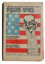 ROLLING STONE Magazine Août 17 1972 Pierres tour trouble Eagles Ralph Steadman