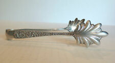"""VINTAGE S. KIRK & SON """"REPOUSSE"""" STERLING SILVER ICE TONGS"""