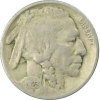 1923 Indian Head Buffalo Nickel 5 Cent Piece F Fine 5c US Coin Collectible