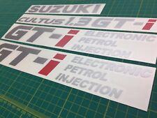 Suzuki Cultus 1.3 GTi decals stickers Graphics RARE JDM Swift