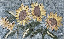 Sunflower Flower Yellow Garden Love Decor Marble Mosaic Fl772