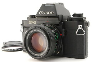 Near MINT/ Canon New F-1 AE Finder + New FD 50mm F1.4 from Japan #1381