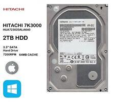 """HITACHI 7K3000 HUA723020ALA640 2TB 3.5"""" Internal Hard Drive SATA HDD PC"""