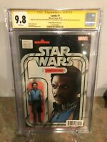 Lando #1 CGC SS 9.8 Signed by Billy D Williams, John Tyler Christopher Star Wars