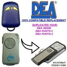 Dea Genie, Dea Punto-2, Dea Punto-4 compatible remote control transmitter, clone
