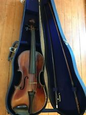 E. Martin Sachsen Copy Of Stradivarius Violin with 2 Bows Vintage Germany Made