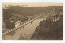 AK Waulsort, Le Chateau et la Meuse en aval, 1930