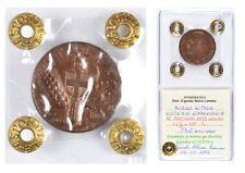 ITALIA Vittorio Emanuele III 10 Centesimi 1939 Impero - Periziata FDC Rame Rosso