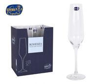 REBECCA Luxury Bohemia Crystal Champagne flutes gift presenation box of 6