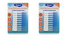 2 x WISDOM CLEAN BETWEEN INTERDENTAL BRUSHES 2 pack of 20 brushes Standard BLUE