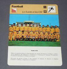 FICHE FOOTBALL 1978 SUEDE SVERIGE ARGENTINA 78 EDSTRÖM LARSSON NORDQVIST WENDT