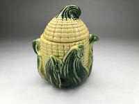Vintage Stanford Ware : Corn Cobb Majolica  Cookie Jar