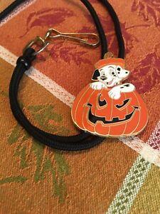 Walt Disney World Cast Member Exclusive Halloween Lanyard 101 Dalmatians Pumpkin