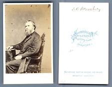 Reverend J.B. Shrewsbury, Methodist Church CDV, Appleton &Co., Bradford. Carte d