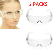 2 PCS Safety Goggles Eye Protection Anti Saliva Clear Vent Glasses Lab Work Wear