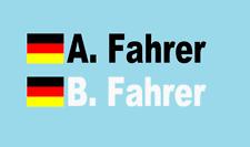 2 x Fahrer NAMEN RALLYE Aufkleber Wunschname Bergrennen Schwarz oder Weiß neu