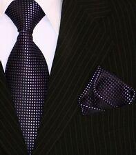 Binder de Luxe Designer Krawatte Einstecktuch Krawatten Set Tie 211 lila