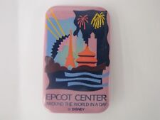 WALT DISNEY Vintage EPCOT CENTER SPACESHIP EARTH Pink WDW PIN Back Button