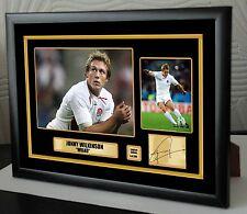 "Jonny Wilkinson Rugby Union Enmarcada Lona Homenaje impresión firmada ""Gran Regalo"""